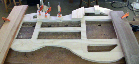 Smyers bass installing buttresses